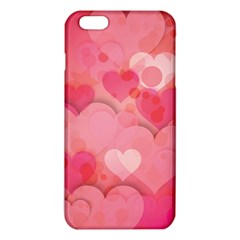 Hearts Pink Background Iphone 6 Plus/6s Plus Tpu Case by Amaryn4rt