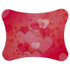 Hearts Pink Background Jigsaw Puzzle Photo Stand (bow) by Amaryn4rt
