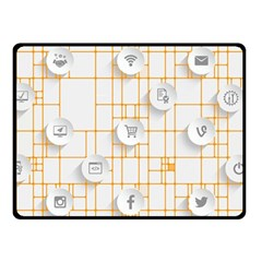 Icon Media Social Network Fleece Blanket (small) by Amaryn4rt