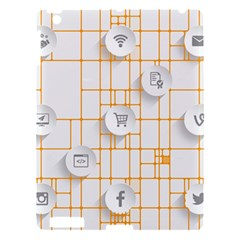 Icon Media Social Network Apple Ipad 3/4 Hardshell Case by Amaryn4rt