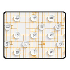 Icon Media Social Network Double Sided Fleece Blanket (small)