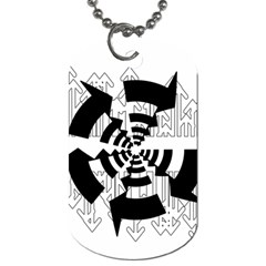 Arrows Top Below Circuit Parts Dog Tag (two Sides)