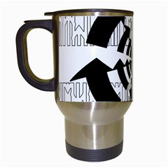Arrows Top Below Circuit Parts Travel Mugs (white) by Amaryn4rt