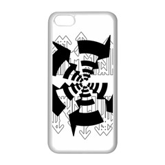 Arrows Top Below Circuit Parts Apple Iphone 5c Seamless Case (white) by Amaryn4rt