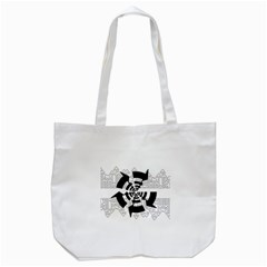 Arrows Top Below Circuit Parts Tote Bag (white) by Amaryn4rt