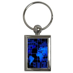 Network Networking Europe Asia Key Chains (rectangle)