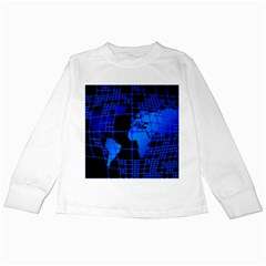 Network Networking Europe Asia Kids Long Sleeve T Shirts by Amaryn4rt