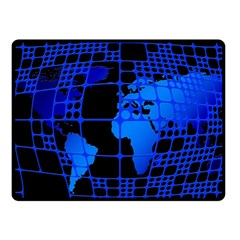 Network Networking Europe Asia Fleece Blanket (small) by Amaryn4rt