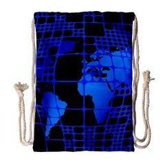 Network Networking Europe Asia Drawstring Bag (large)
