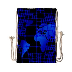 Network Networking Europe Asia Drawstring Bag (small)