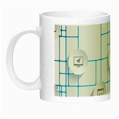 Icon Media Social Network Night Luminous Mugs by Amaryn4rt