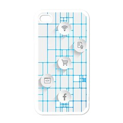 Icon Media Social Network Apple Iphone 4 Case (white) by Amaryn4rt