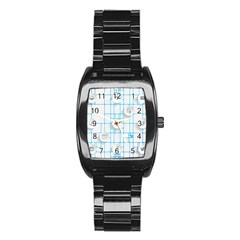 Icon Media Social Network Stainless Steel Barrel Watch by Amaryn4rt