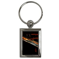 Highway Night Lighthouse Car Fast Key Chains (rectangle)  by Amaryn4rt