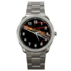 Highway Night Lighthouse Car Fast Sport Metal Watch by Amaryn4rt