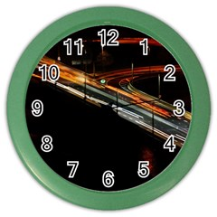 Highway Night Lighthouse Car Fast Color Wall Clocks