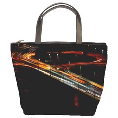 Highway Night Lighthouse Car Fast Bucket Bags by Amaryn4rt