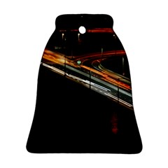 Highway Night Lighthouse Car Fast Bell Ornament (two Sides) by Amaryn4rt