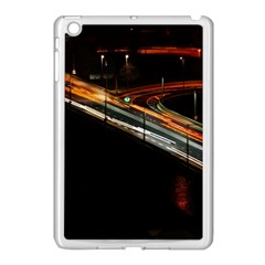Highway Night Lighthouse Car Fast Apple Ipad Mini Case (white) by Amaryn4rt