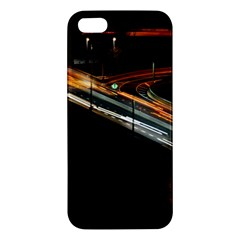 Highway Night Lighthouse Car Fast Iphone 5s/ Se Premium Hardshell Case by Amaryn4rt