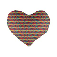 Background Abstract Colorful Standard 16  Premium Flano Heart Shape Cushions by Amaryn4rt
