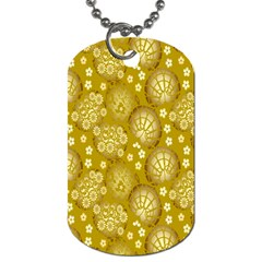 Flower Arrangements Season Gold Dog Tag (two Sides) by Alisyart