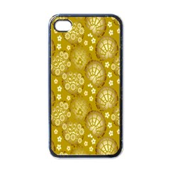 Flower Arrangements Season Gold Apple Iphone 4 Case (black)