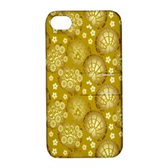 Flower Arrangements Season Gold Apple Iphone 4/4s Hardshell Case With Stand