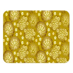 Flower Arrangements Season Gold Double Sided Flano Blanket (large)