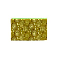 Flower Arrangements Season Gold Cosmetic Bag (xs)