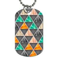 Abstract Geometric Triangle Shape Dog Tag (one Side) by Amaryn4rt
