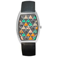 Abstract Geometric Triangle Shape Barrel Style Metal Watch by Amaryn4rt