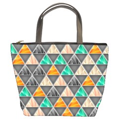 Abstract Geometric Triangle Shape Bucket Bags by Amaryn4rt
