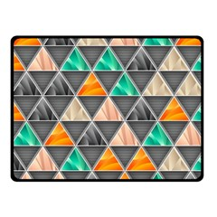 Abstract Geometric Triangle Shape Fleece Blanket (small) by Amaryn4rt