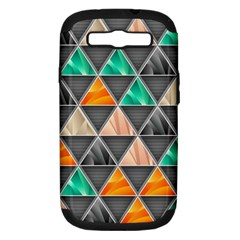 Abstract Geometric Triangle Shape Samsung Galaxy S Iii Hardshell Case (pc+silicone) by Amaryn4rt