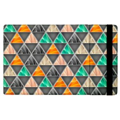 Abstract Geometric Triangle Shape Apple Ipad 2 Flip Case by Amaryn4rt