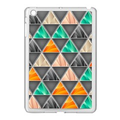 Abstract Geometric Triangle Shape Apple Ipad Mini Case (white) by Amaryn4rt