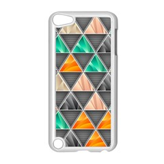 Abstract Geometric Triangle Shape Apple Ipod Touch 5 Case (white) by Amaryn4rt