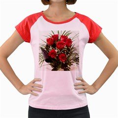 Red Roses Roses Red Flower Love Women s Cap Sleeve T Shirt by Amaryn4rt