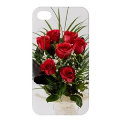 Red Roses Roses Red Flower Love Apple Iphone 4/4s Hardshell Case by Amaryn4rt