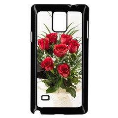 Red Roses Roses Red Flower Love Samsung Galaxy Note 4 Case (black) by Amaryn4rt