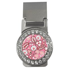 Flower Floral Red Blush Pink Money Clips (cz)  by Alisyart
