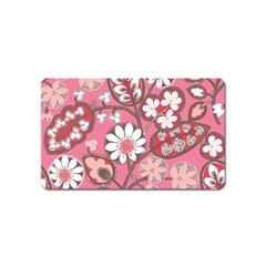 Flower Floral Red Blush Pink Magnet (name Card)