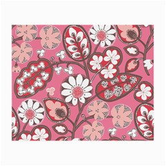 Flower Floral Red Blush Pink Small Glasses Cloth by Alisyart