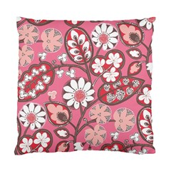 Flower Floral Red Blush Pink Standard Cushion Case (two Sides)