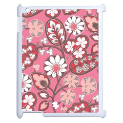 Flower Floral Red Blush Pink Apple Ipad 2 Case (white) by Alisyart