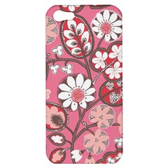 Flower Floral Red Blush Pink Apple Iphone 5 Hardshell Case by Alisyart