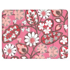 Flower Floral Red Blush Pink Samsung Galaxy Tab 7  P1000 Flip Case