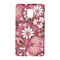 Flower Floral Red Blush Pink Galaxy Note Edge by Alisyart