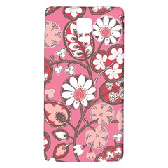 Flower Floral Red Blush Pink Galaxy Note 4 Back Case